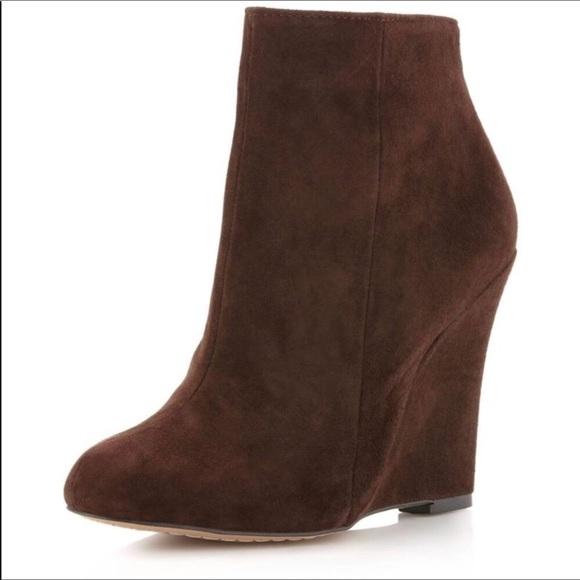 98de28ee75e88 Sam Edelman Brown Suede Wilma Wedge Ankle Boots. M 5b944879800deef8b3e4387b